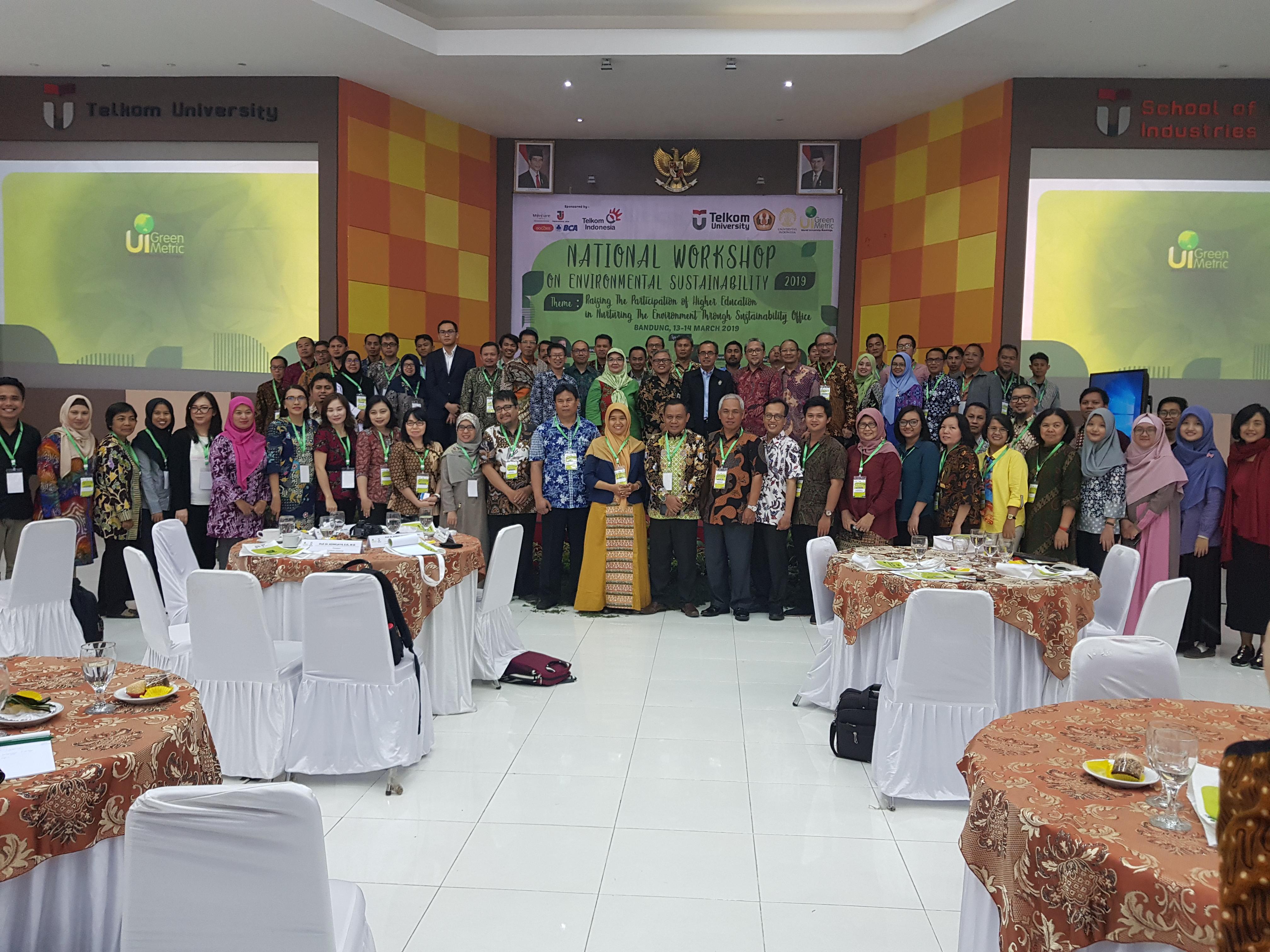 National Workshop on Environmental Sustainability Office 2019 in Telkom University and Universitas Padjajaran